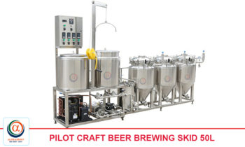 Pilot Craft Beer Brewing Skid 50l